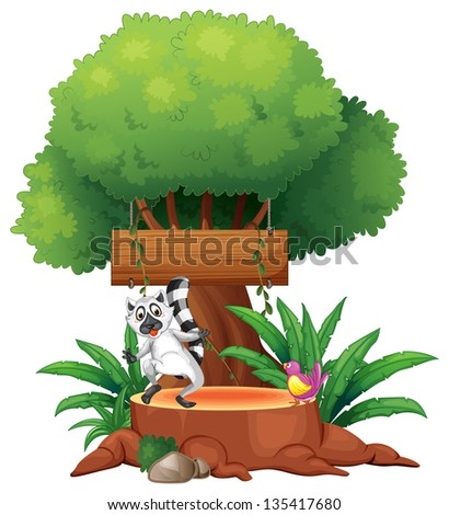 Stock Vector Treehouse Illustration