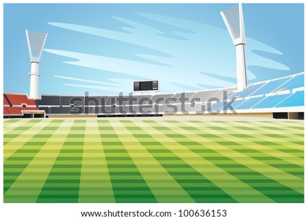 Illustration of an empty stadium - EPS VECTOR format also available in my portfolio.