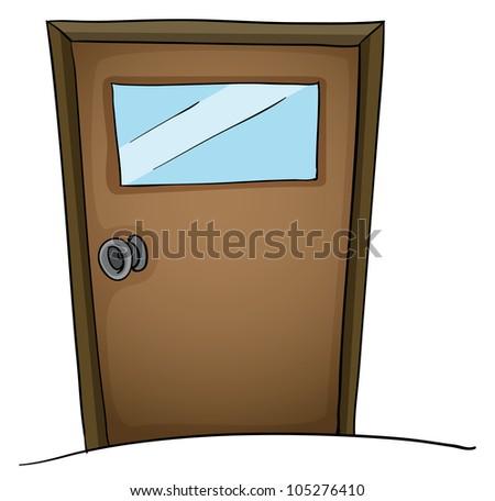 Illustration of an isolated door - stock photo