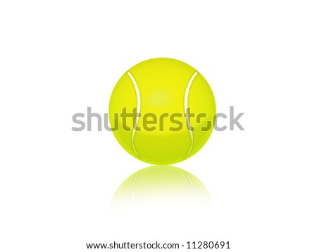 Illustration of an isolated tennis ball