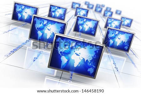 illustration of an network - stock photo