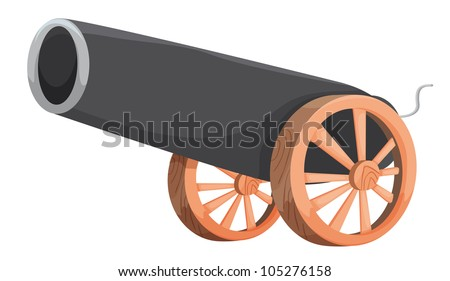 Illustration of an old cannon - stock photo