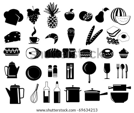 illustration of assorted food icons