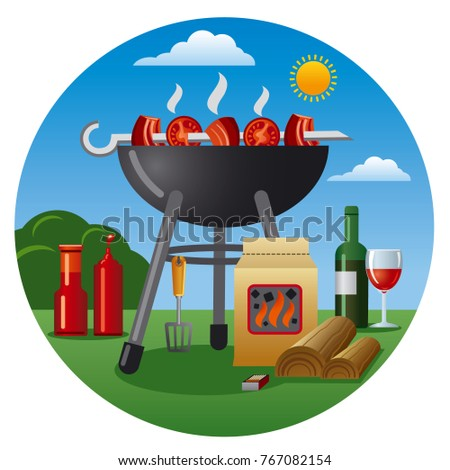 illustration of barbecue icon