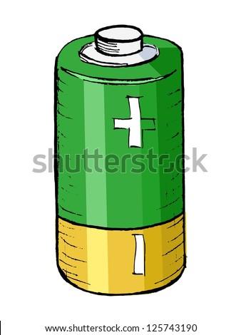 illustration of battery - stock photo