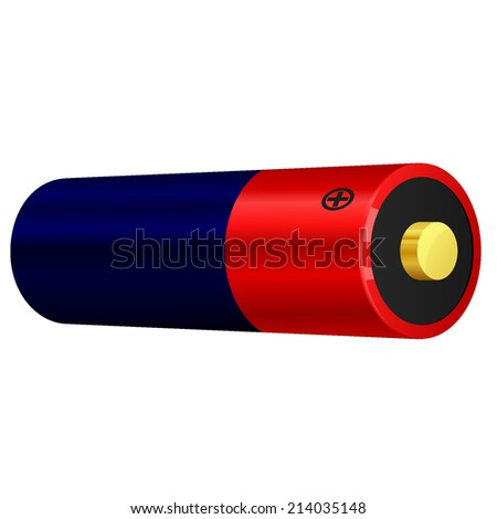 illustration of battery - stock photo