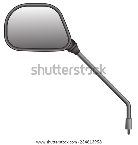 illustration of bike or scooter side rear view mirror. Isolated on white background