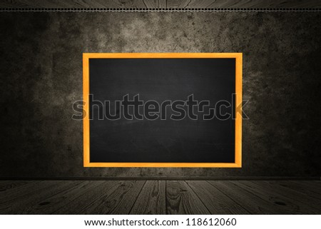 Illustration of blackboard hang on wall in room style. - stock photo