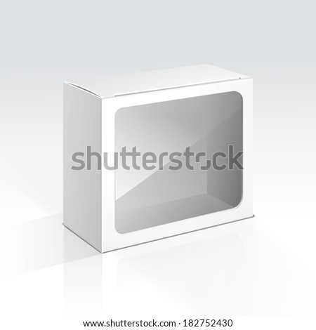 Illustration of Blank Box with Transparent Window