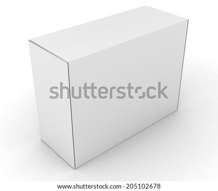 Illustration of Blank boxes isolated on white background - stock photo