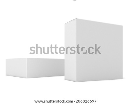 Illustration of Blank boxes isolated on white background