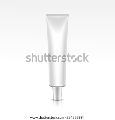 Illustration of Blank Tube Package - stock photo