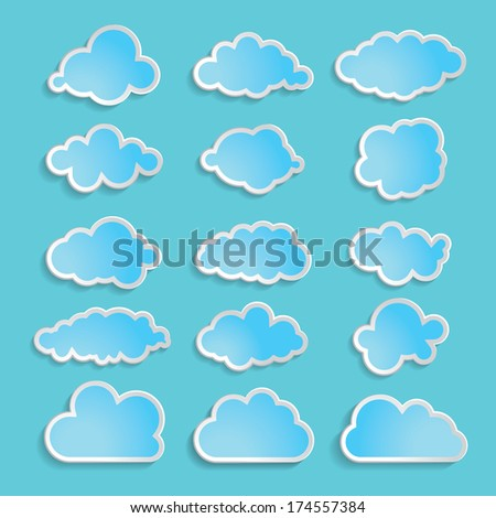 illustration of blue clouds collection