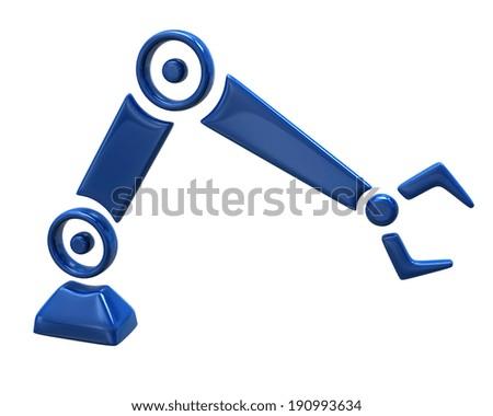 Illustration of blue repair robot hand - stock photo