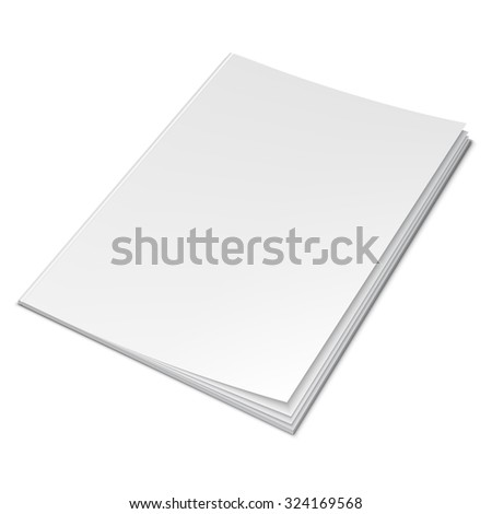 Illustration of book with empty blank cover