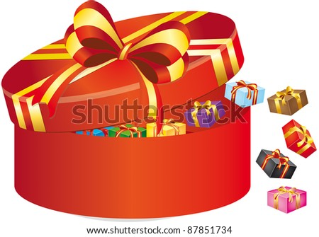 illustration of box with gift