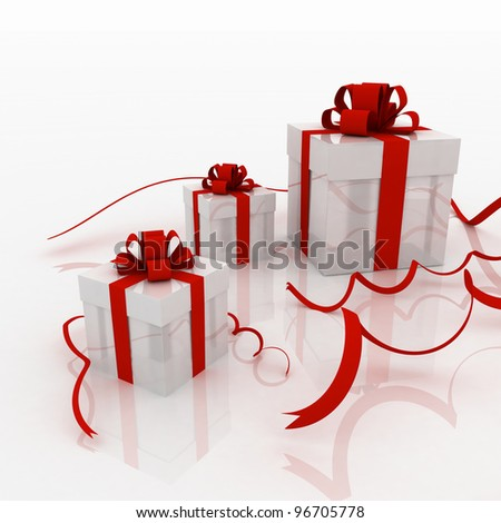 Illustration of boxes with gifts