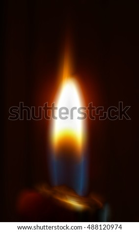 Illustration of Candle burning in the dark