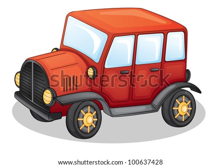 illustration of car on a white background - EPS VECTOR format also available in my portfolio.