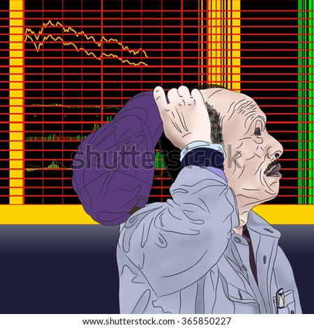Illustration of Chinese Stock Exchange
