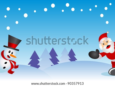 illustration of christmas background