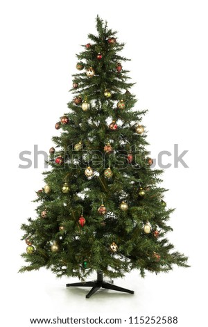 Illustration of Christmas tree in a full length image - stock photo