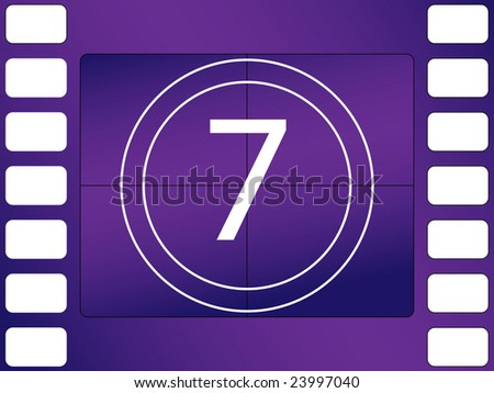 illustration of cinema countdown, number 7