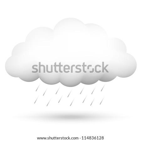 Illustration of cloud and rain - stock photo