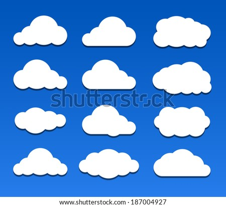 Illustration of clouds collection