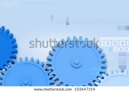 illustration of cog wheel on abstract background
