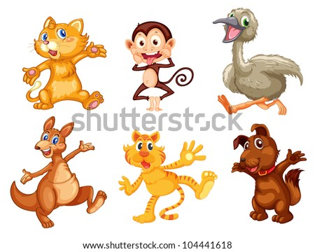 Illustration of collection of animals - EPS VECTOR format also available in my portfolio. - stock photo