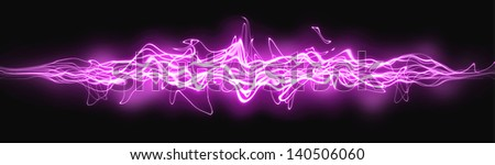 illustration of colored abstract background with magic light lines - stock photo