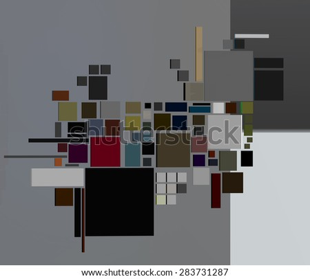 illustration of colored abstract with geometric shapes