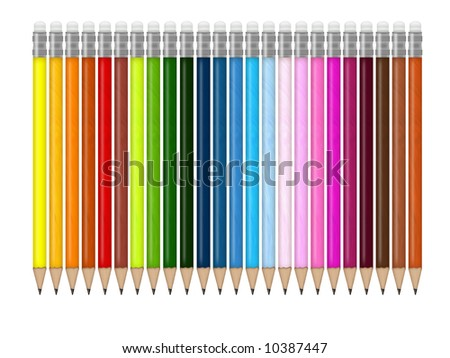 Illustration of colored pencils for kids and school