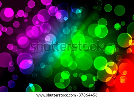 Illustration of colorful Abstract spectrum bokeh background