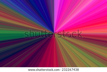 illustration of colorful sunburst - digital high resolution