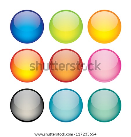 Illustration of coloured glossy and shiny network sphere icon. - stock photo