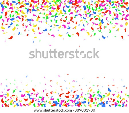 Illustration of Confetti decoration colorful for Design, Website, Background, Banner. Holiday party Element Template. Festival object isolated