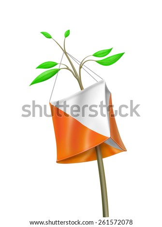 Illustration of control point symbol in orienteering - stock photo