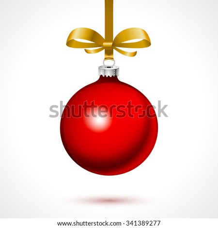 illustration of cool red Christmas decoration
