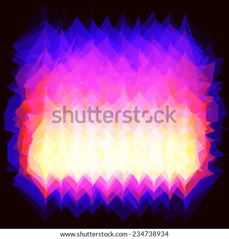 illustration of corner fire (gas)  spurts of flame burning. backdrop - stock photo