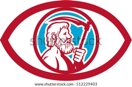 Illustration Cronus Kronos Greek God Leader Stock Illustration