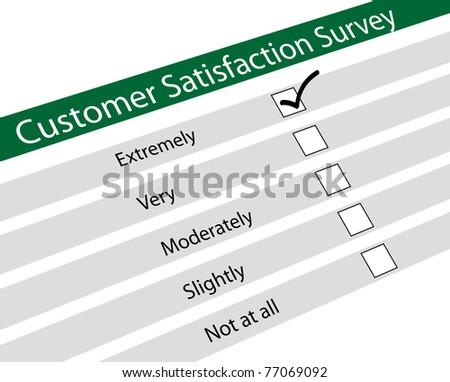 Illustration of customer satisfaction survey - stock photo