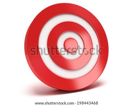 Illustration of 3d darts target isolated on white back - stock photo