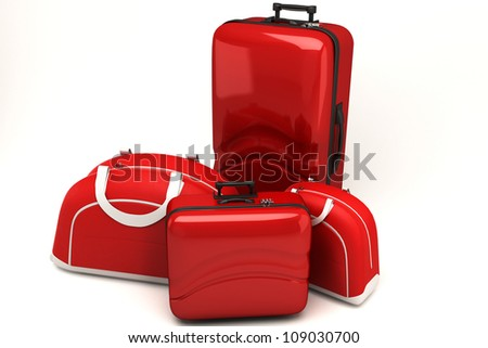 illustration of 3d image of travel bag and luggage