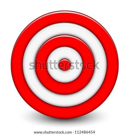 Illustration of 3d target - stock photo