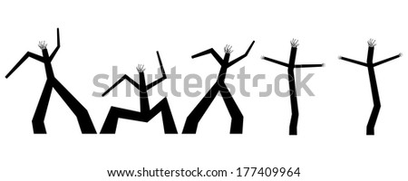 "Illustration of ""Dancing men"""