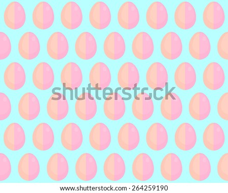 illustration of easter eggs pattern in sky blue color background - stock photo