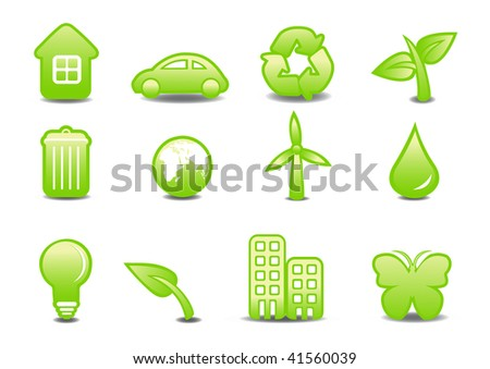 illustration of ecological signs .You can use it for your website, application or presentation