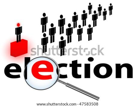 illustration of election theme against white background - stock photo